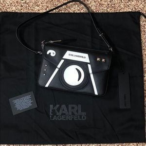 RARE Karl Lagerfeld Camera Purse Clutch Bag NWT